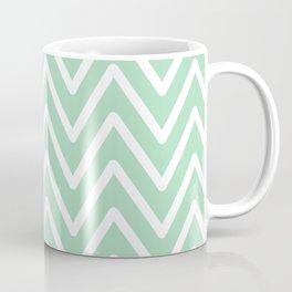 Chevron Wave Mint Coffee Mug