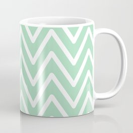 Chevron Wave Mint Coffee Mug