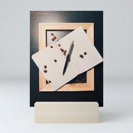 Writing and Coffee. Piece #1 Mini Art Print