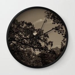 Castelos dos Mouros Through Trees Wall Clock