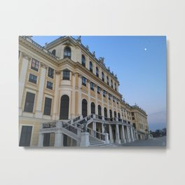 Moon rises at Schönbrunn Palace in Vienna Metal Print