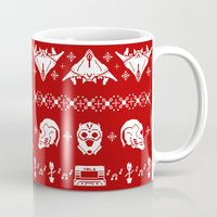 starlord Mugs featuring Merry Christmas A-Holes by Perdita