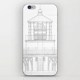Vintage Bodie Island Lighthouse Blueprint iPhone Skin