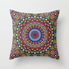 The Psychedelic Days Throw Pillow
