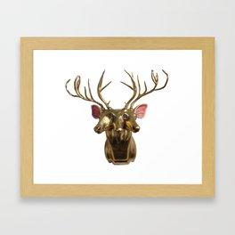 Trophy Head (4Ocular2AuditoryGoldenHorned3Face) Framed Art Print