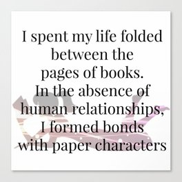 Paper Characters Canvas Print