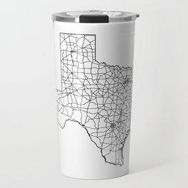 Texas White Map Travel Mug