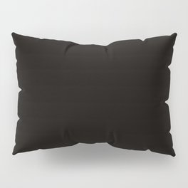 Solid ebony color Pillow Sham
