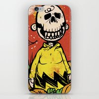 charlie brown iPhone & iPod Skins featuring Charlie Brown - The Original Pumpkin King by Neil McKinney