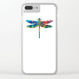 Colorful Dragonfly Art By Sharon Cummings Clear iPhone Case