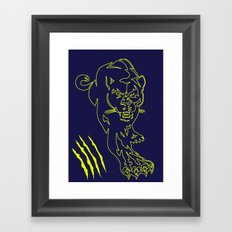 puma scratch Framed Art Print