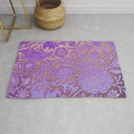 Wiiliam Morris revamped, art nouveau pattern Rug