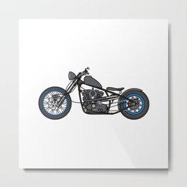 custom motorcycle Metal Print