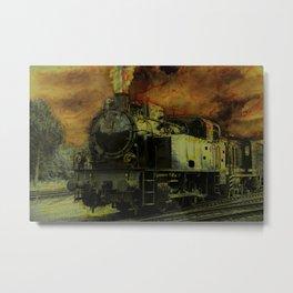 Rail Blazer - Vintage Steam Train Metal Print