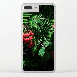 Rowan-berry Clear iPhone Case