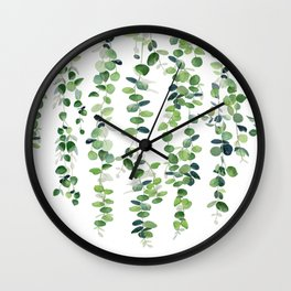 Eucalyptus Garland  Wall Clock