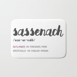 Outlander Sassenach Definition Bath Mat