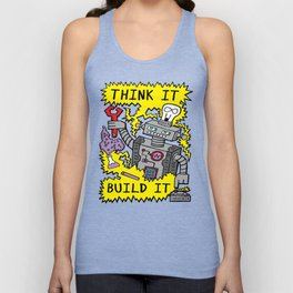 Think Build Robot Unisex Tank Top