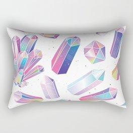 Purple Crystals Rectangular Pillow
