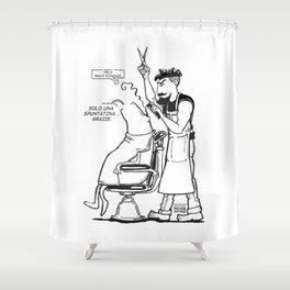 Solo una spuntatina grazie. Shower Curtain