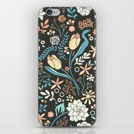 Tulip flowerbed, blue iPhone Skin