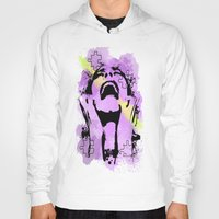 scream Hoodies featuring Scream by Katerina Gold