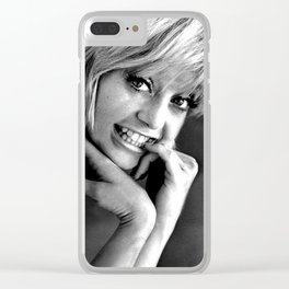 YOUNG GOLDIE HAWN Clear iPhone Case