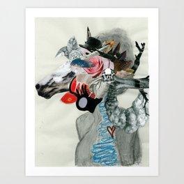 Animal Instinct. Art Print