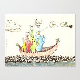 Sailing Cats Canvas Print