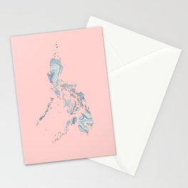 Philippines map Stationery Cards