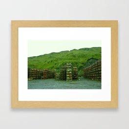 Stack of Commercial Crab Pots  Framed Art Print
