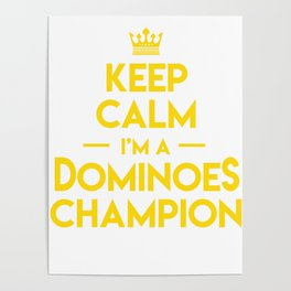Keep Calm Dominoes Tiles Puzzler Game Gift Poster