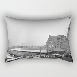 Chicago and North Western Railway Station, Chicago, Illinois Rectangular Pillow