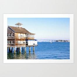 House on Stilts Art Print