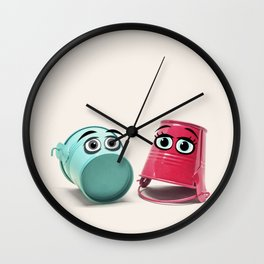 Chatting Buckets Wall Clock