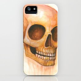 deaths grinning head iPhone Case