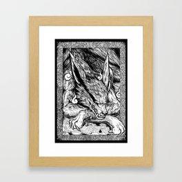 Kurama Kyubi Framed Art Print