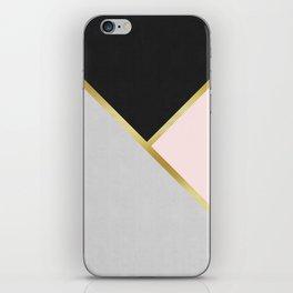 Gold Modern Art IX iPhone Skin
