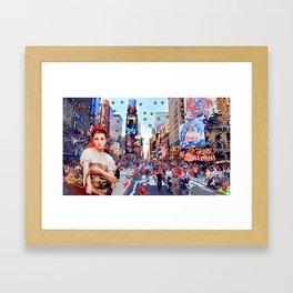 Shopping in New York Framed Art Print