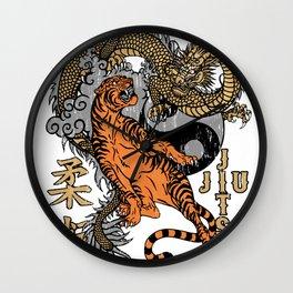 Jiu Jitsu Tiger and Dragon Yin Yang Martial Arts Bjj MMA Wall Clock