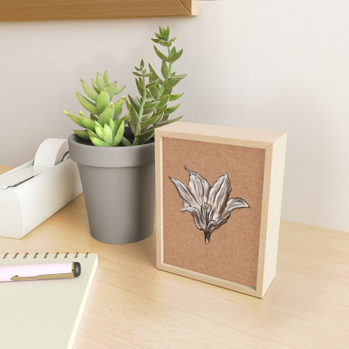 Spring flower Framed Mini Art Print