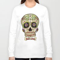 mexican Long Sleeve T-shirts featuring Mexican Skull !!! by Adrian Filmore