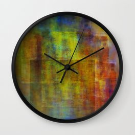 colors in abstract Wall Clock