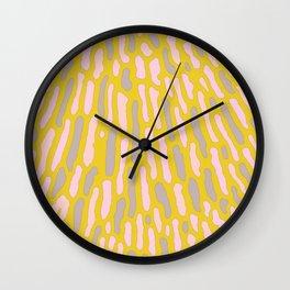 Organic Abstract Yellow Lime Wall Clock