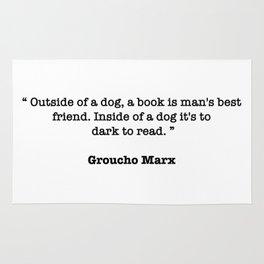 Groucho Marx Quote Rug