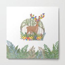 Deer in the forest. Metal Print