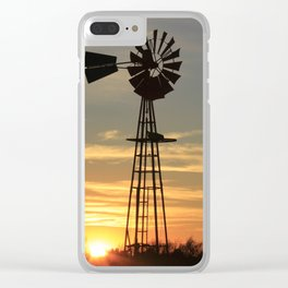 Kansas Country Sunset Clear iPhone Case