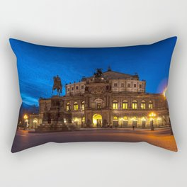 Germany-Dresden Semper Opera blue hour Rectangular Pillow