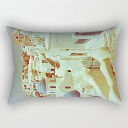 Santorini in Raspberry and Blue II: shot using Revolog 600nm special effects film Rectangular Pillow