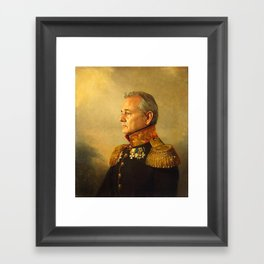 Bill Murray - replaceface Framed Art Print